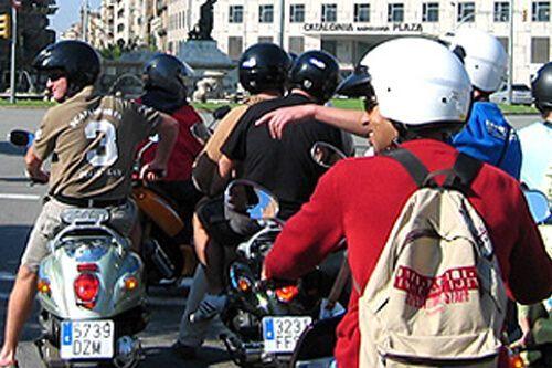 ruta guiada scooter Barcelona