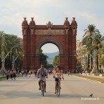 ciclistas passeig de Lluís Companys