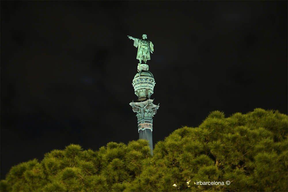 Christopher Columbus at night