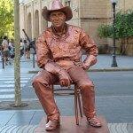 estatua humana La Rambla