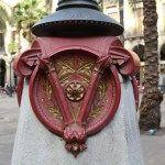 farola de Gaudí Plaza Real
