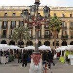 paradas en la Plaza Real