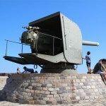 artillería en el Castillo de Montjuïc