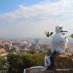muñeco de nieve Turó de les Tres Creus