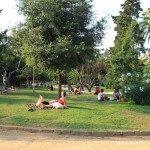 descanso en el Parc de la Ciutadella