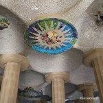 rosetón en la Sala Hipóstila del Park Güell