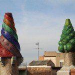 chimeneas en la terraza del Palau Güell