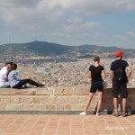 vistas desde el mirador del Castillo de Montjuïc