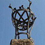 hierro forjado para la antigua iluminación