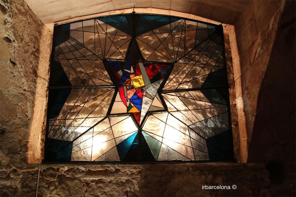 vidriera Estrella de David