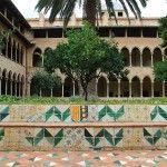 adornos cerámica claustro Monasterio de Pedralbes