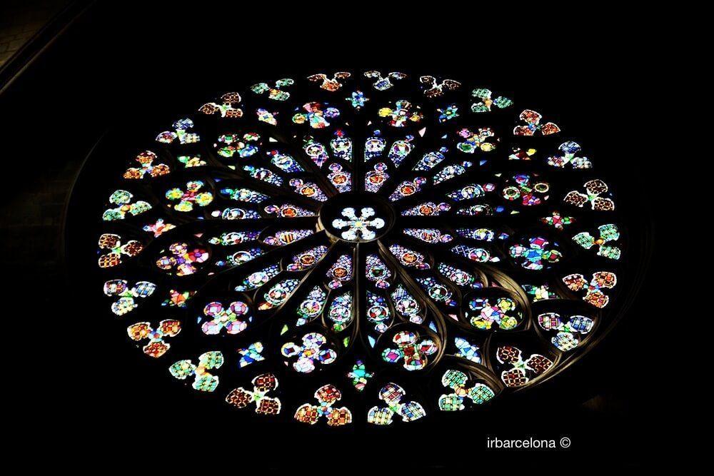 rosetón basílica Santa Maria del Pi