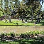 estanque de los jardines