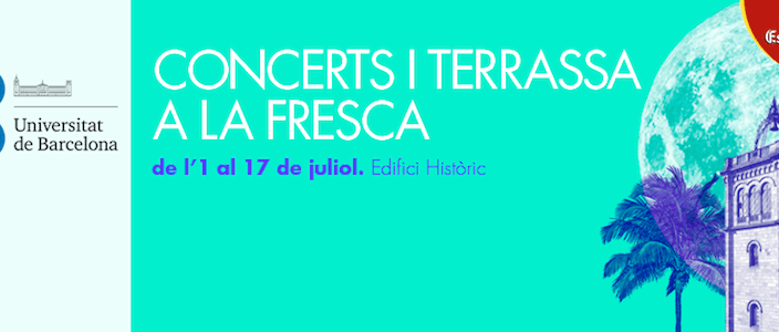 Els Vespres de la UB 2014, conciertos y terraza al aire libre
