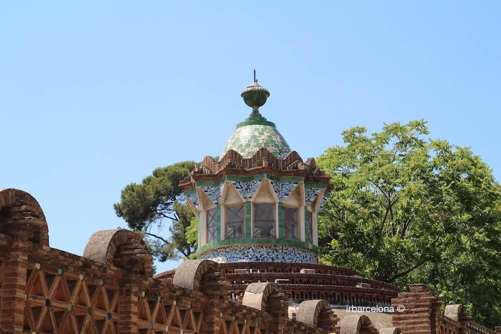 cúpula pabellón finca Güell