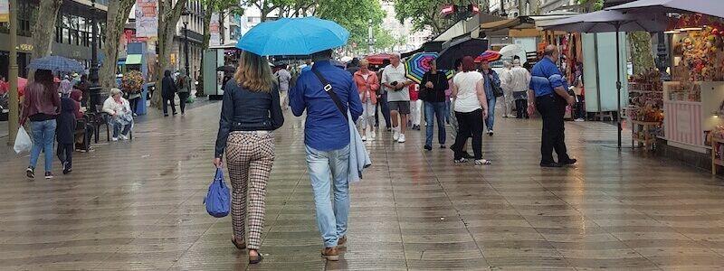 Barcelona si llueve