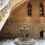 patio y fuente Palacio Barón de Quadras