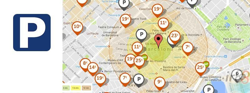 dónde aparcar en Barcelona