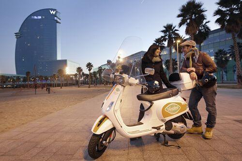 alquiler moto Vesping Barcelona