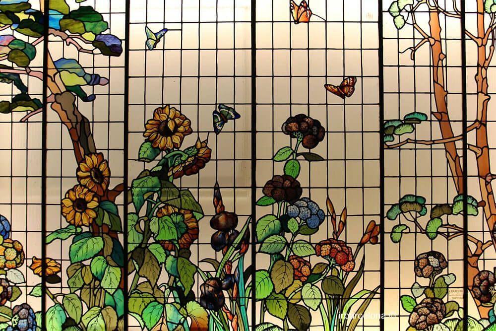 vidriera floral MMBCN