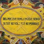 Lemas morales sobre cerámica