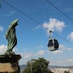 escultura y teleférico de Montjuïc