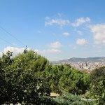vistas del teleférico de Montjuïc