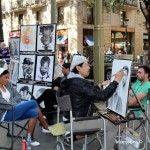 retratistas en La Rambla