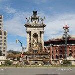 Las Arenas y fuente plaza España
