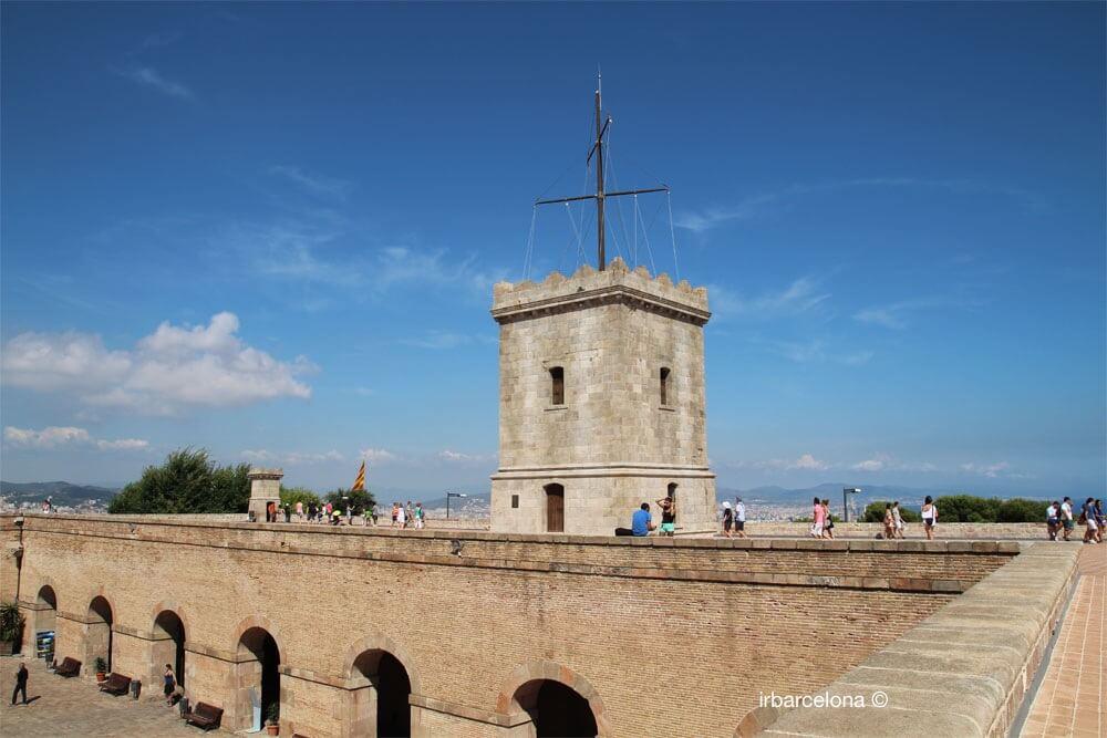 terraza del Castillo de Montjuïc