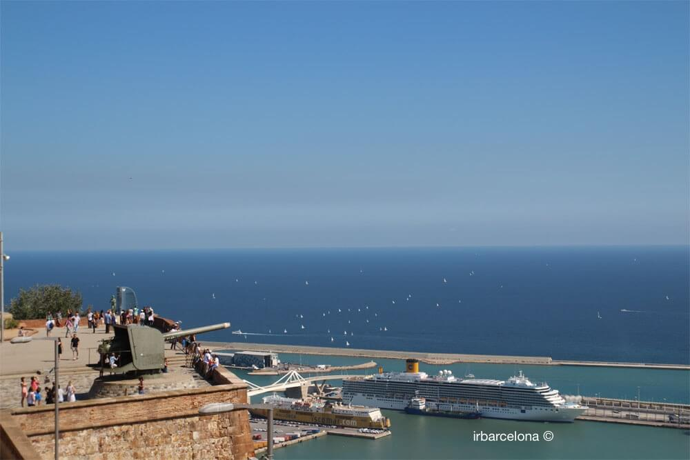 vistas del mar desde el mirador