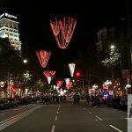 Passeig de Gràcia de noche