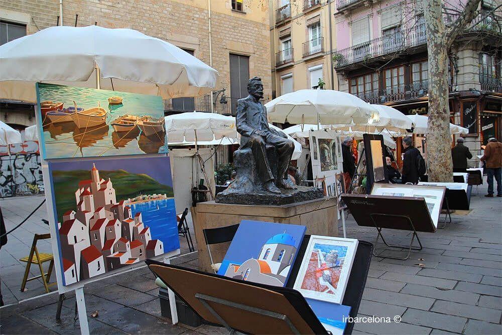 arte en la plaza de Sant Josep Oriol