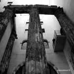 columnas Templo de Augusto blanco y negro