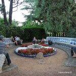 bancos jardín Torre Bellesguard