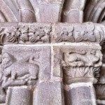 capitel columna claustro Sant Pau del Camp