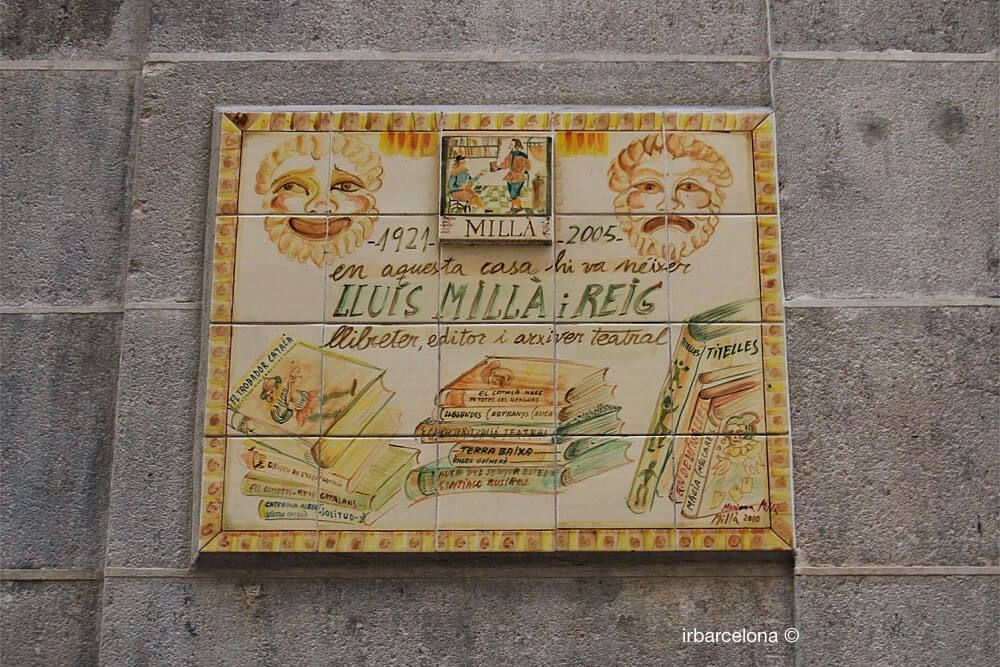 placa a Lluís Millà i Reig
