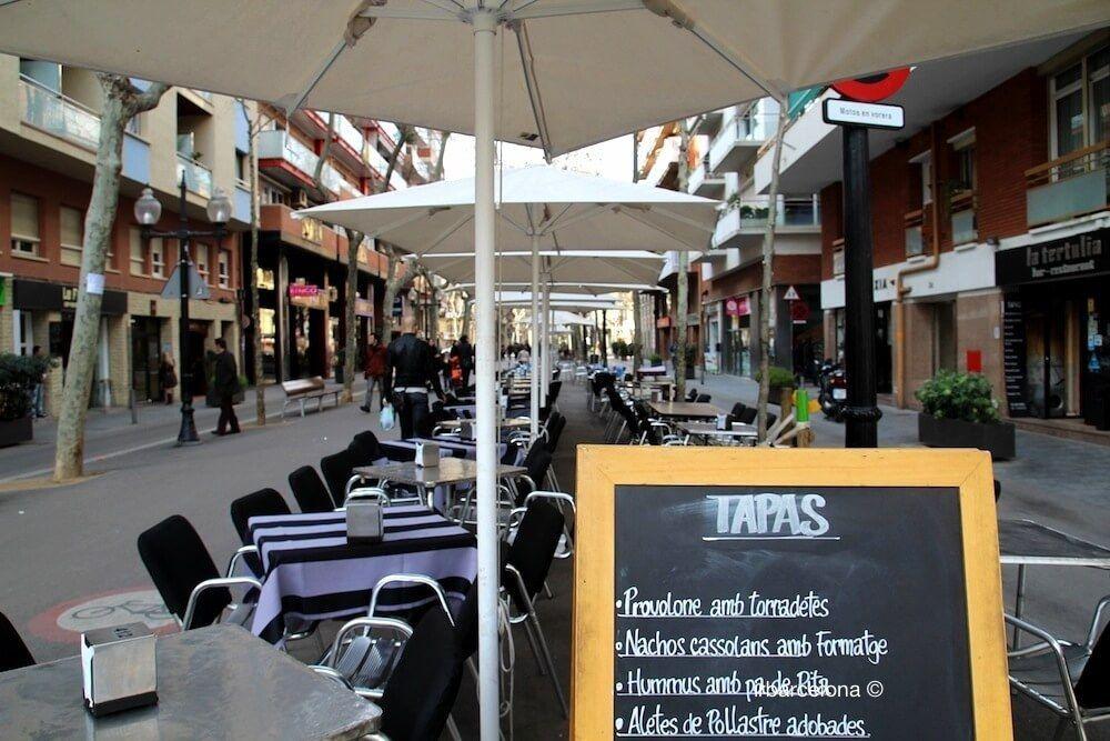 terrasse bar Rambla Poblenou