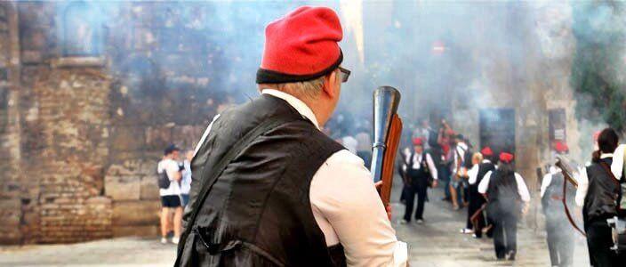 Galejades con los trabucaires de Barcelona por la Mercè