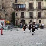 trabucaires llegando a la plaza de la Seu