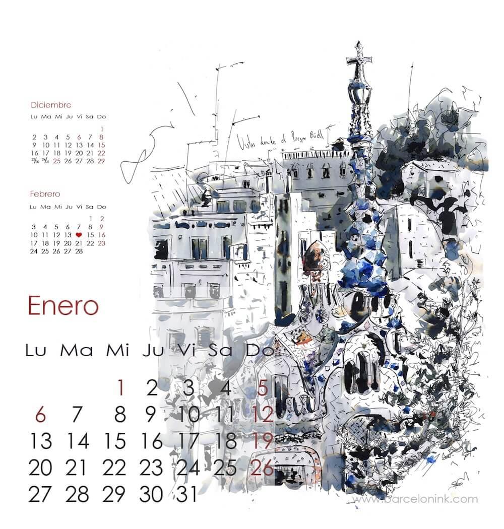 enero, calendario Barcelonink 2014