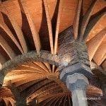 arcos del techo de la Cripta Gaudí