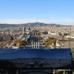 plafón y vistas desde la terraza del MNAC