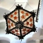 vidrio colorido lámpara entrada