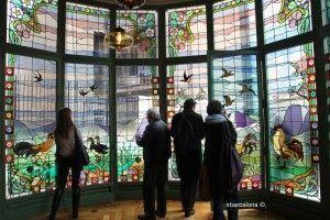 visitantes vidriera comedor