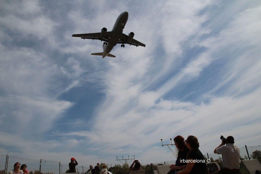 observación de un avión