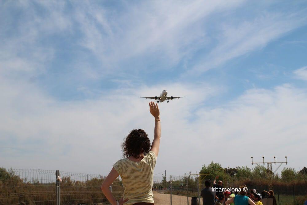 tocando un avión