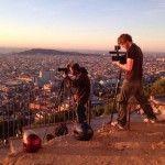 filmando en el Turó de la Rovira
