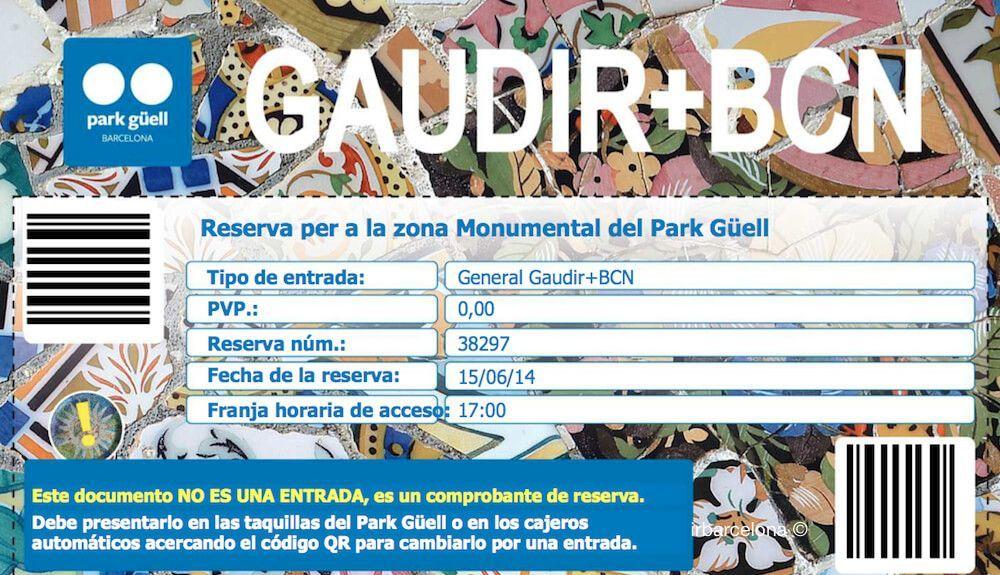 prenotazione Park Güell Gaudir+BCN
