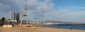 Strandpromenade von Barcelona